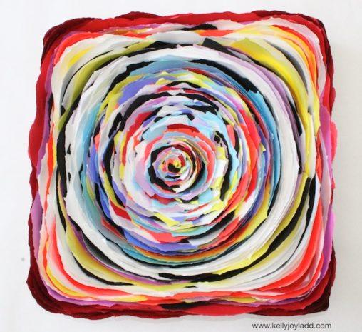 Red Hypnotic; paper on canvas; 2014; kellyjoyladd.com