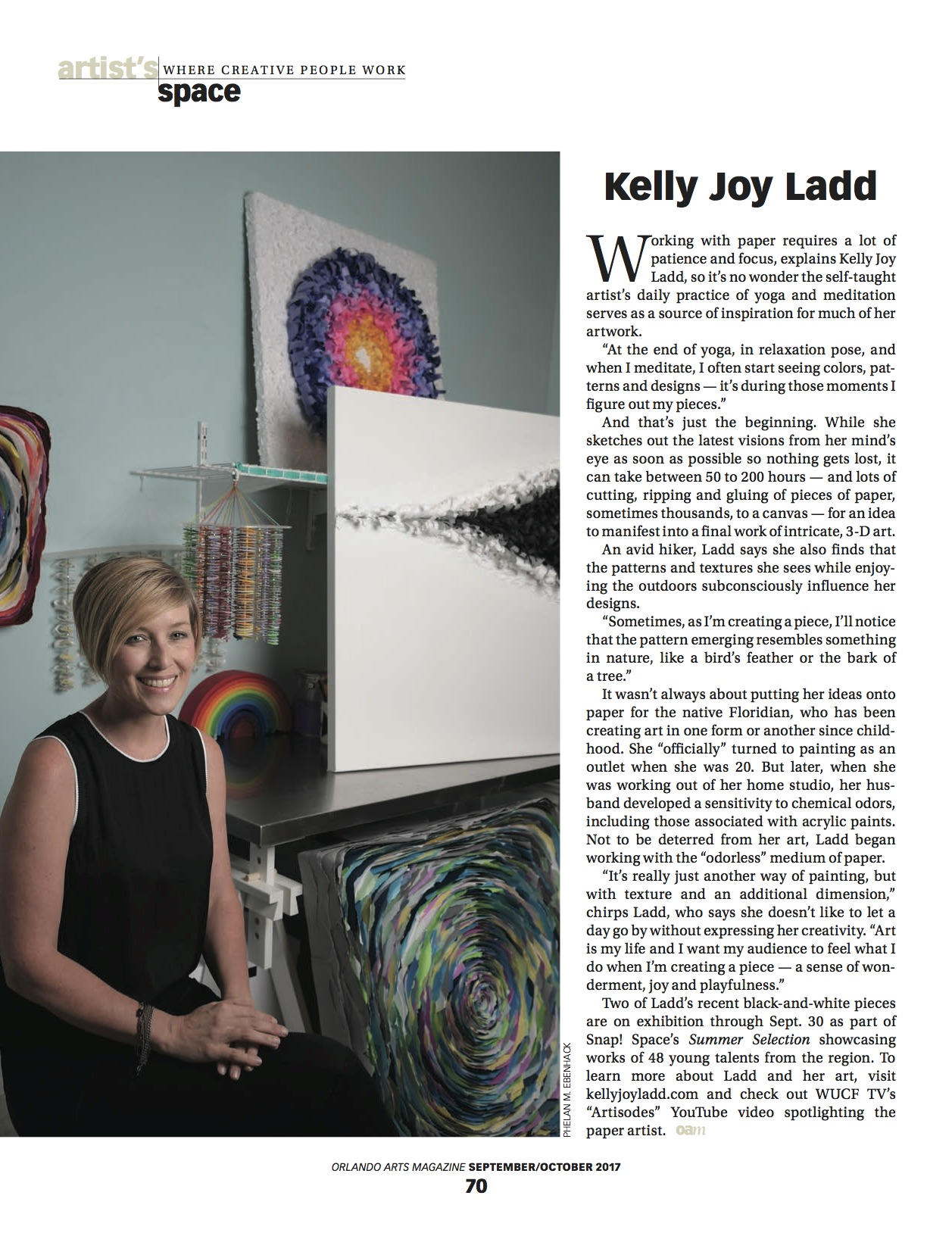 orlando art magazine; kellyjoyladd.com