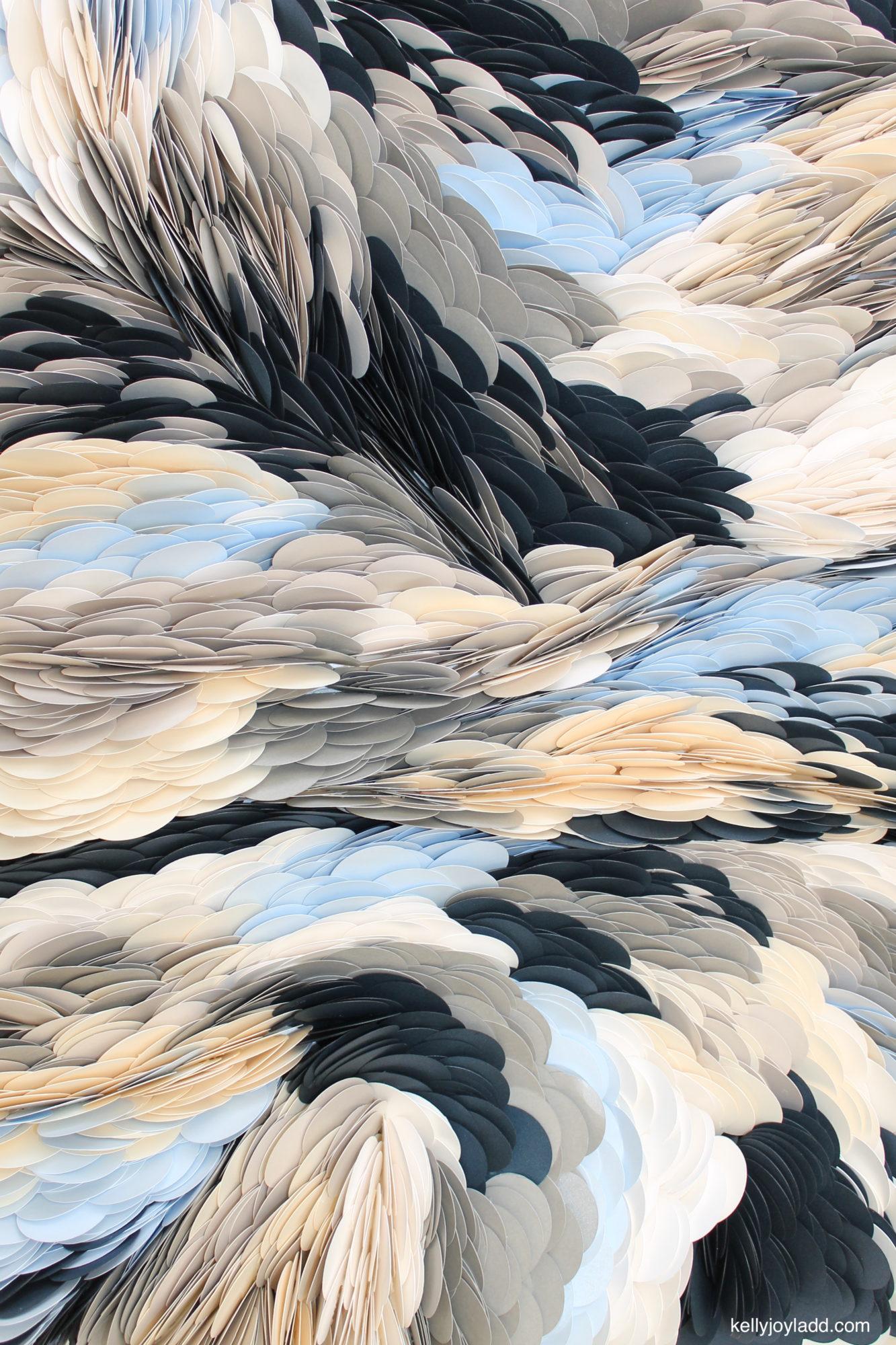 gravitational waves : kellyjoyladd.com paper artist, orlando artist, contemporary artist