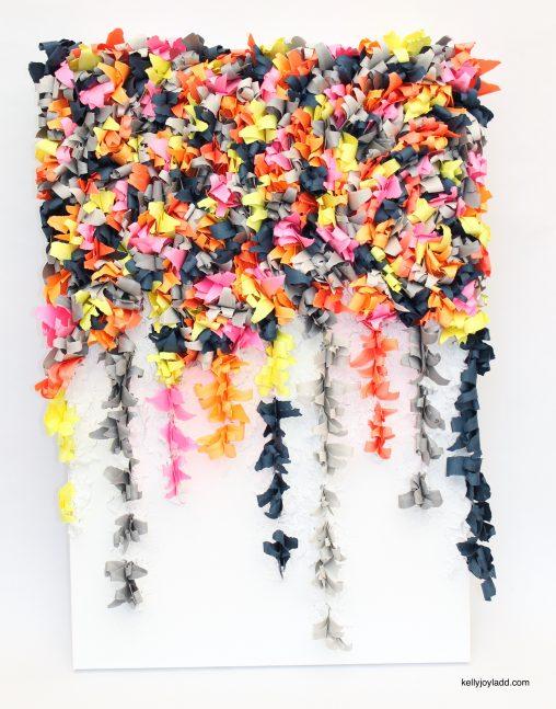 kelly joy ladd: kellyjoyladd.com: paper artist, orlando, florida aurora borealis II cascading aura 2